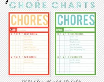 Chore chart | Etsy