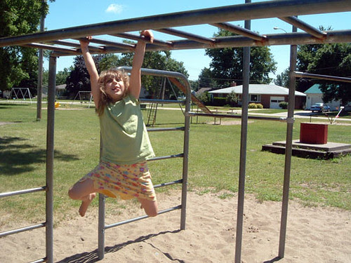 Molly on the Monkey Bars