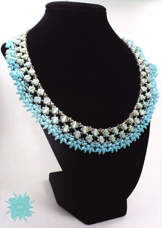 Silky Diamond Collar Necklace Tutorial Two by DesertStarCreations