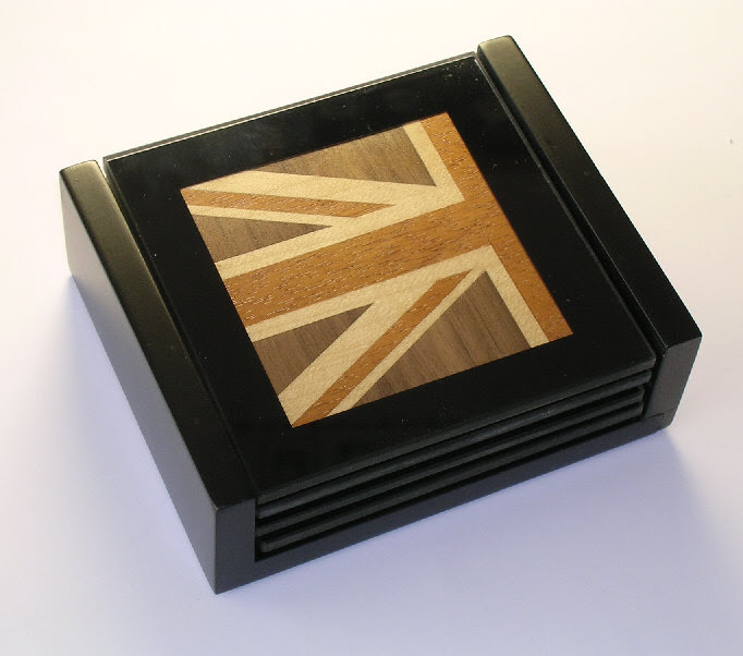 Qjs Marquetry Coasters