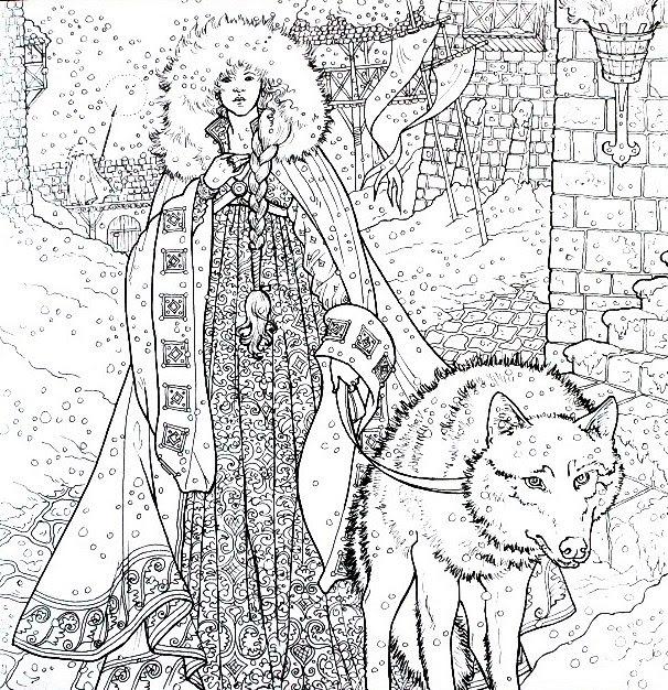 Game Of Thrones Lalbum De Coloriage Officiel Beaux Livres Les