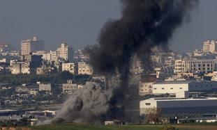 Smoke rises after IAF airstrike in Gaza [file]