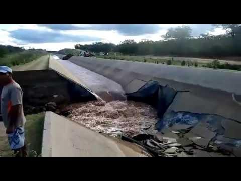 Canal da transposição se rompe entre Sertânia e Custódia, em Pernambuco