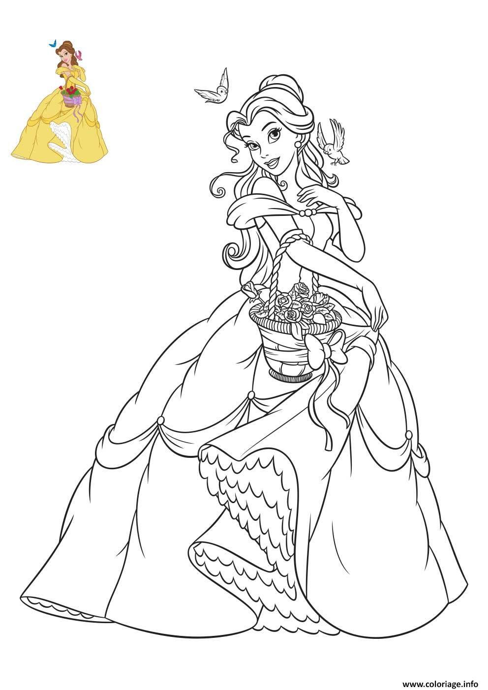 Coloriage Princesse Disney Belle Jecoloriecom