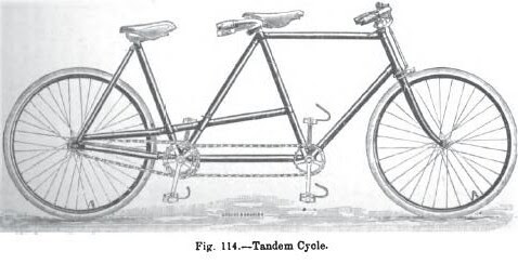 Tandem bike from 1904