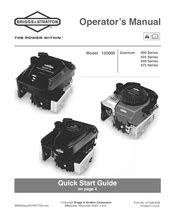 Briggs & Stratton 120000 Quantum 650 Series Manuals