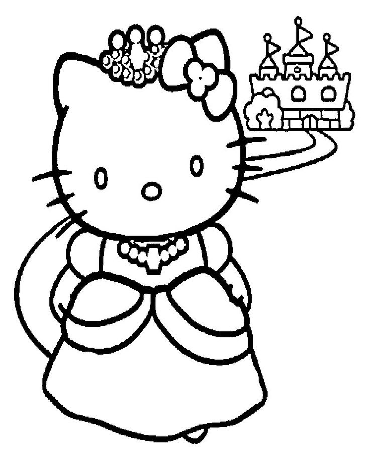Sanrio Cute Hello Kitty Friend Coloring Pages Printable | 906x736