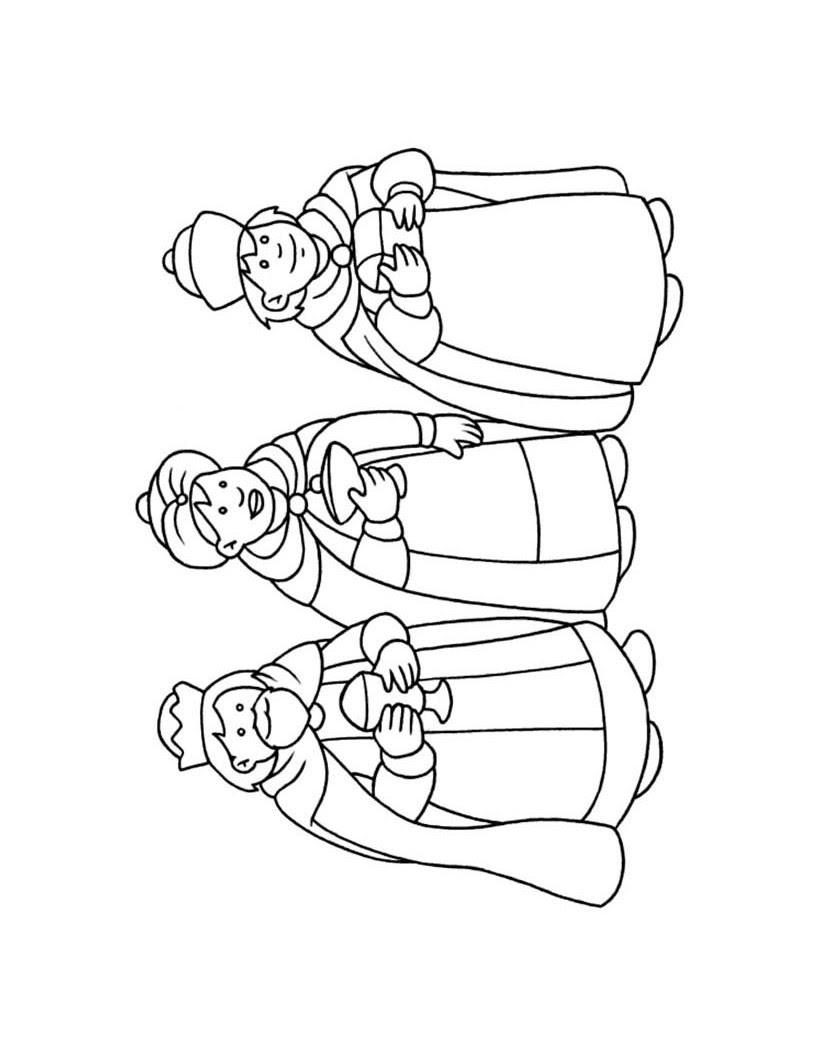 Dibujos Para Colorear Los Reyes Magos Es Hellokids Com