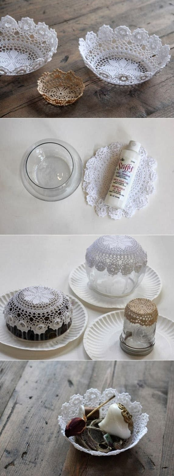 DIY Easy Doily Bowl | DIY & Crafts Tutorials