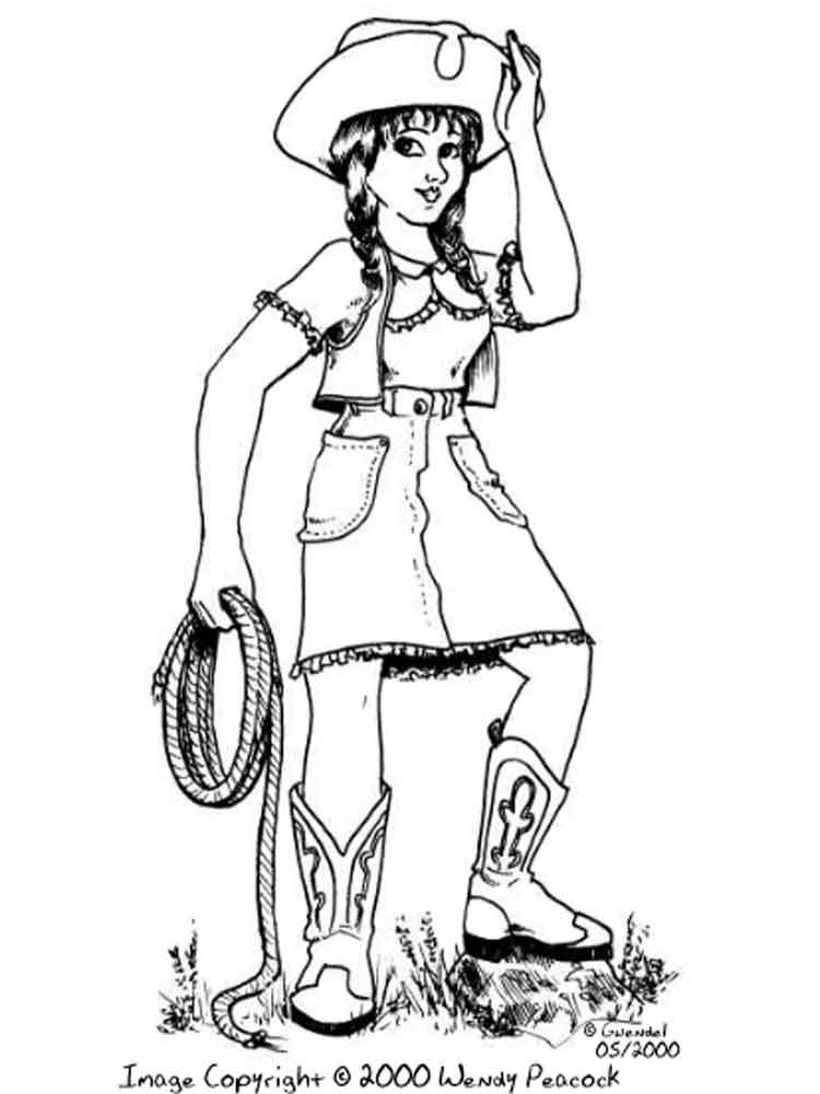 Download Cowgirl coloring pages. Free Printable Cowgirl coloring pages.