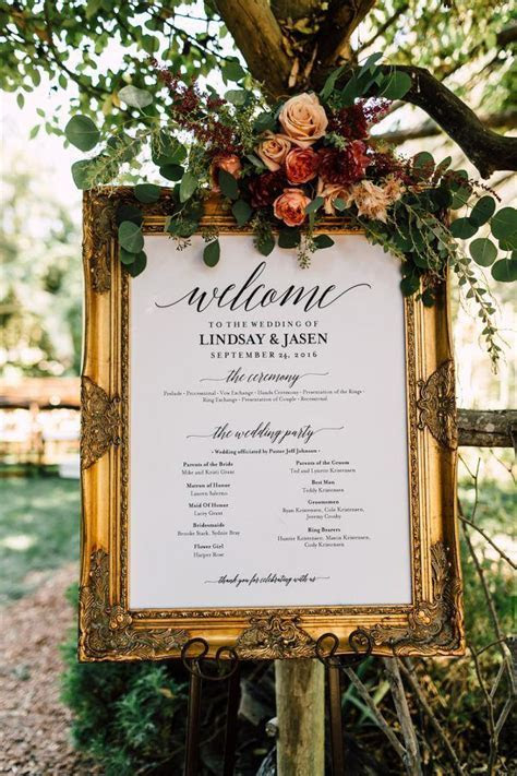 What signs do I need for my wedding?   Wedding Reception