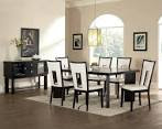 Dining Room: Elegant Dining Room Ideas With Black And White Dining ...