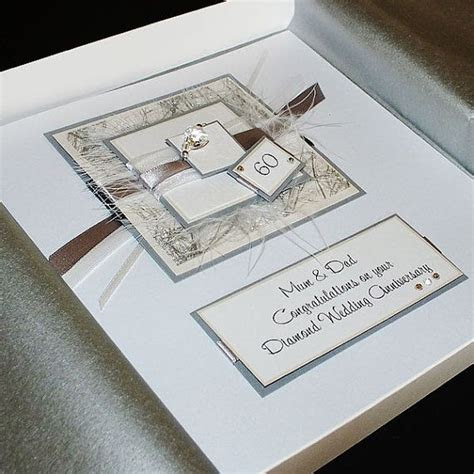 Personalised Boxed Diamond (60th) Wedding Anniversary Card