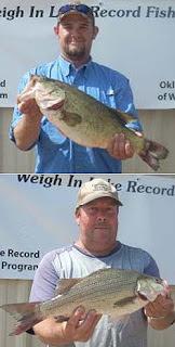 Lake Thunderbird Oklahoma bass fishing records