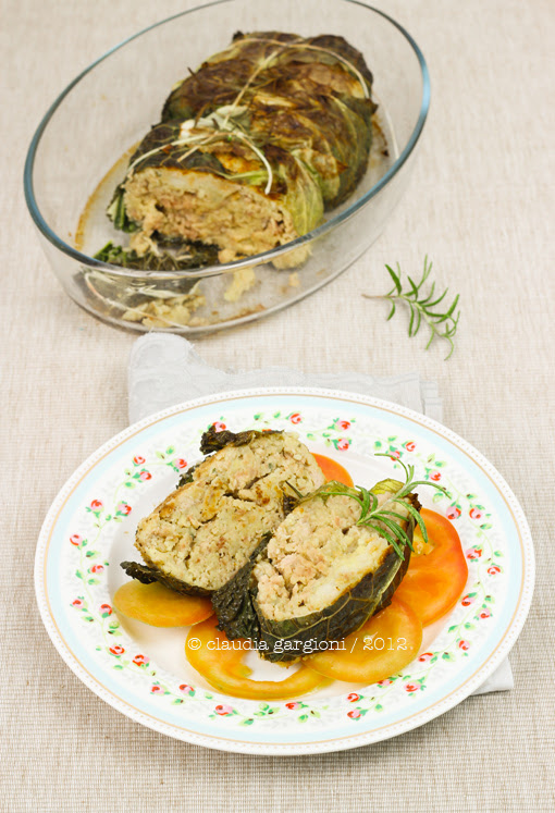 polpettone di carne mista e patate
