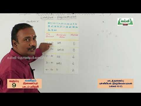 9th Maths Bridge Course நிகழ்வெண்  எண்ணுதலின் நாள் 9, 10 Kalvi TV