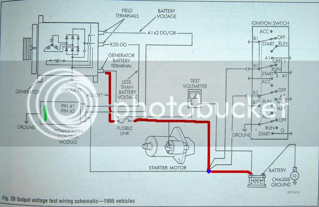 91 dodge durango alternator wiring image 2