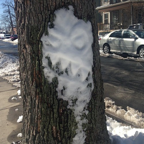 The abominable snow...face? Tree man? I don't know.