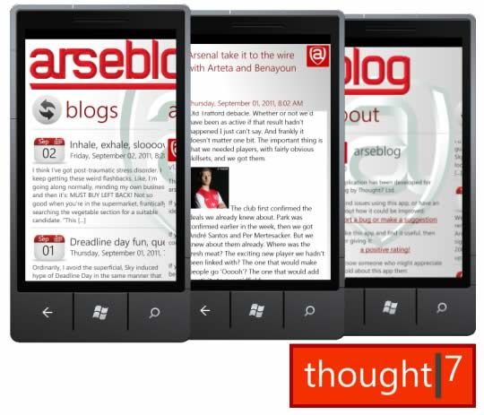 Arseblog windows phone app