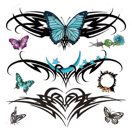 Sexy   Tattoos on Beautiful Lower Back Tattoos With Tribal Tattoos Butterfly Designs