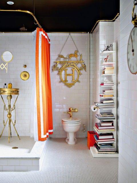 Jonathana Adlera Łazienka w stylu Hermes --- mozna powiedziec OMG na Tej tablicy Hermesa Wiszące w TLE?
