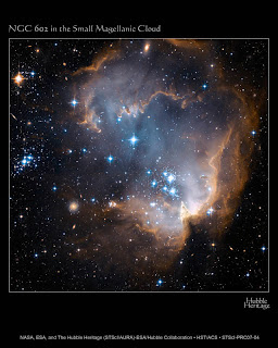 Hubble observa estrellas nacientes en una galaxia cercana