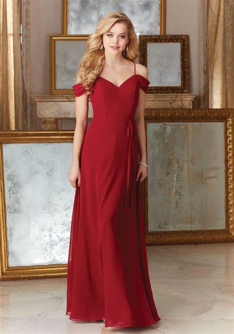 Chiffon with Beaded Embroidery Bridesmaid Dress   Style