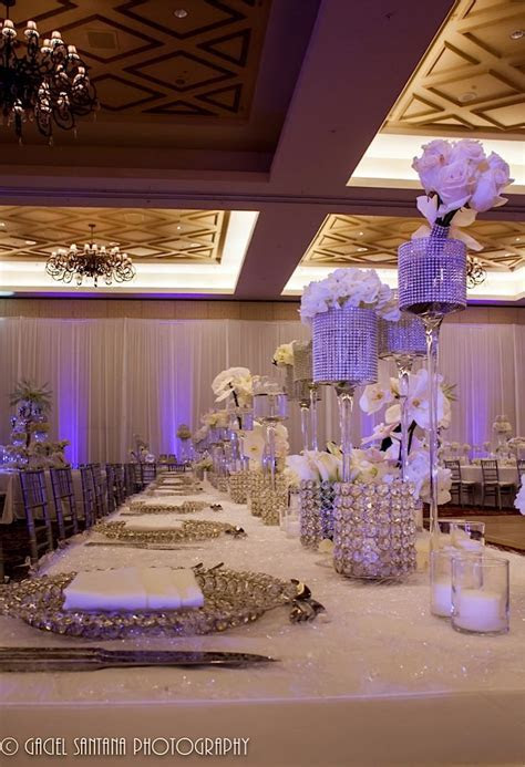 Glitz & bling long tablescape   Wedding   Glitz & Bling