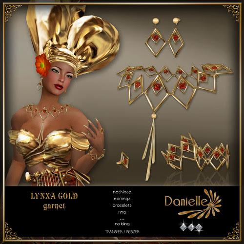 DANIELLE Lynxa Gold ~ Garnet