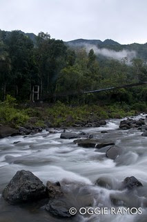 Tinglayan Chico River and Bridge with View of Sleeping Beauty