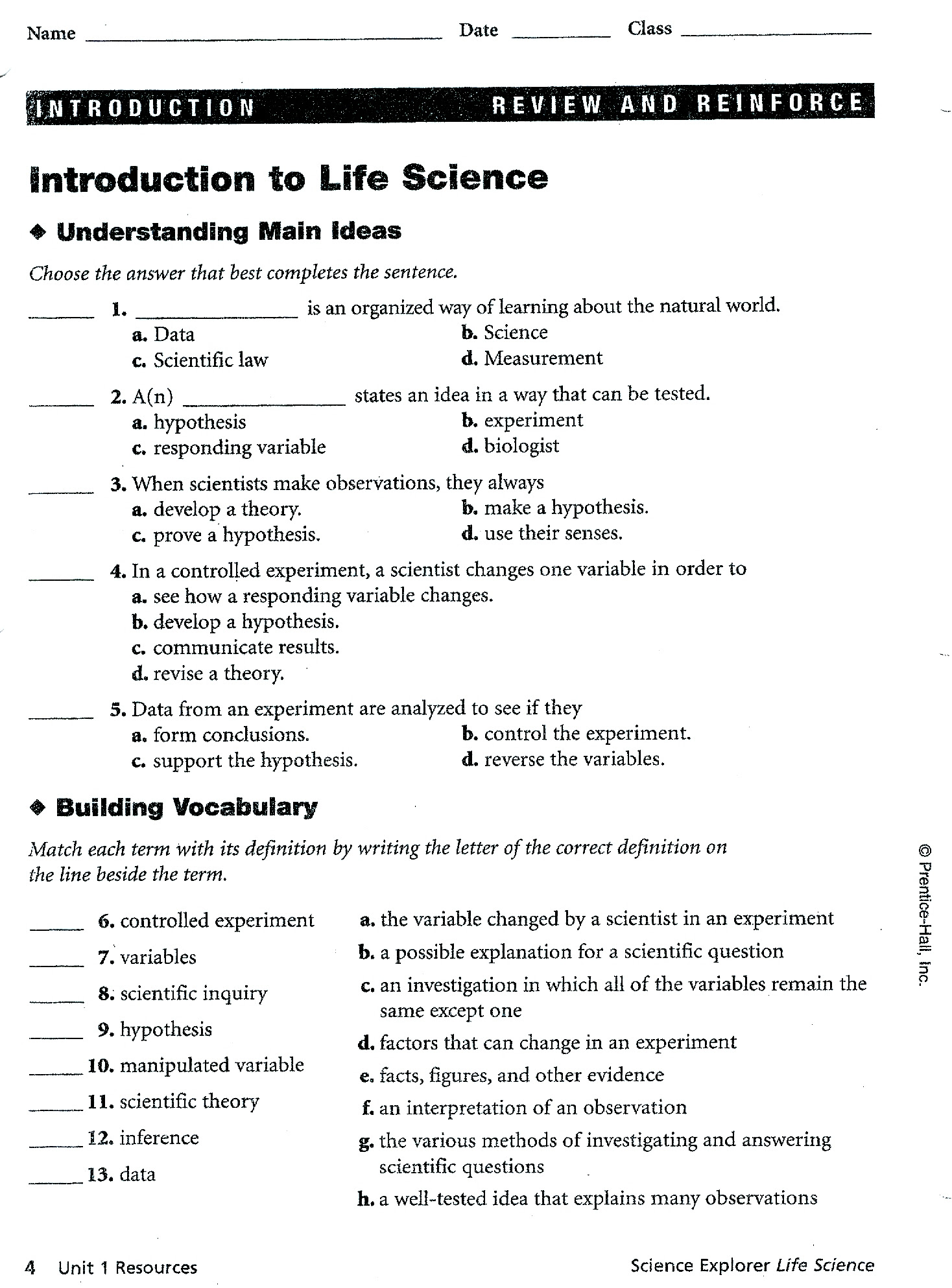 32 Introduction To Life Science Worksheet Answers - Free ...