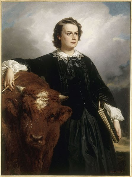 File:Rosa Bonheur with Bull , by E L Dubufe.jpg