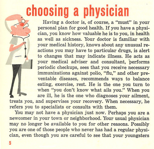 Choosing a physician