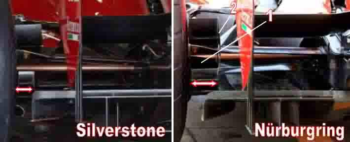 Particolari tecnici Ferrari