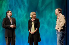 """Dyna Bryant, Paul Ciciora and Jonathan Schwartz, General Session """"Java: Change (Y)Our World"""" on June 2, JavaOne 2009 San Francisco"""