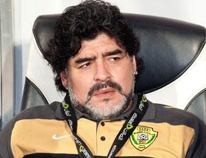 Maradona treinador do Al Wasl FC (Foto: Agência AP)