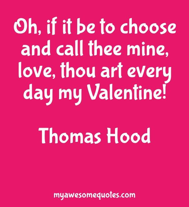 Thomas Hood Quote About Valentine Love Awesome Quotes About Life