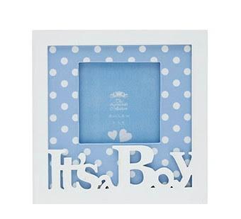 Its A Boy Blue Photo Frame Threelittlebearscouk