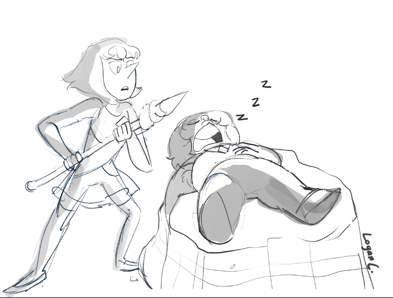 Day 1 - First Meeting yo what if pearl found her sleeping on a rock