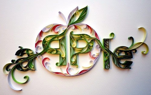 Papergraphic apple