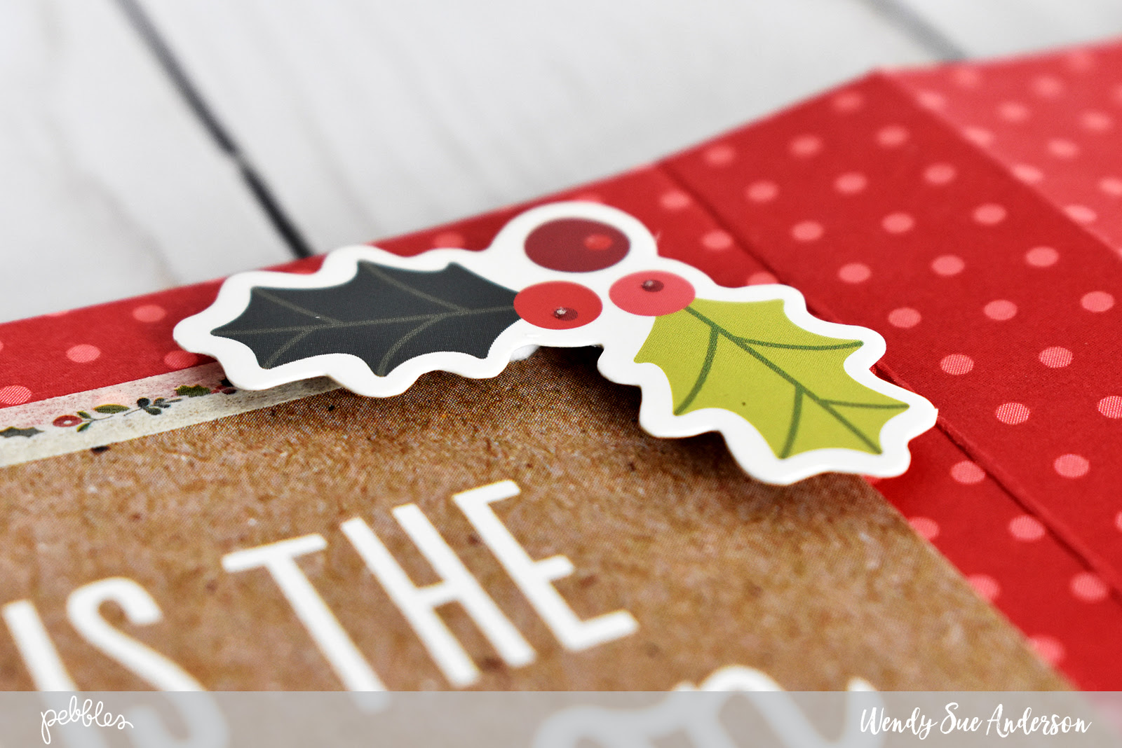 """Easy holiday party favors by @WendySueA with the """"Merry Merry"""" Collection from @PebblesInc."""