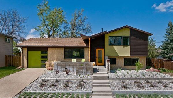Patio Front House Split Level Gallery Of Good Garden Design Ideas