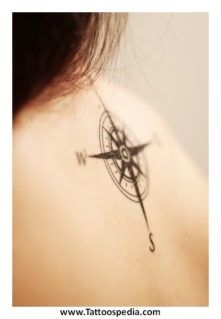 Small Compass Rose Tattoos 7