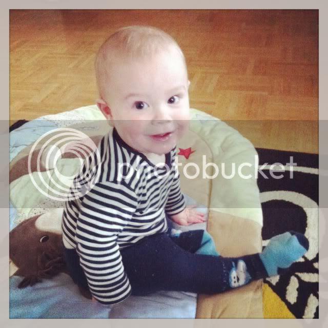 Bjarne mit 8 Monaten
