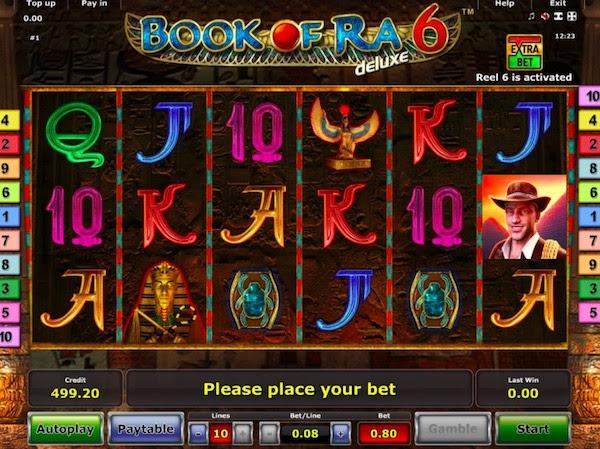 Игровой аппарат Book of Ra (Книга Ра) играть онлайн.Самый популярный и известный игровой автомат без регистрации от компании Novomatic.