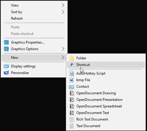 How to create a shortcut for each Hyper-V Virtual Machine in Windows 10 (or 8)