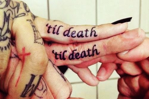 Til Death Til Death Finger Tattoos