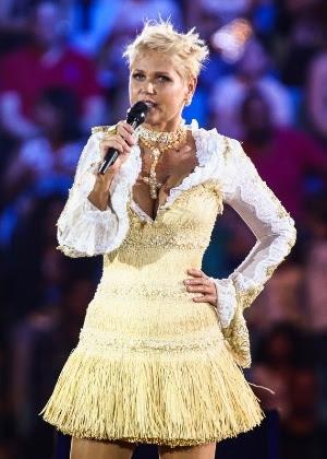 """Xuxa em dezembro de 2014, durante o espetáculo """"A Magia do Natal"""", que ela apresentou em São Paulo"""