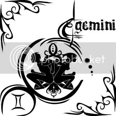 Gemini Zodiac Tattoos on Astrological Sign Of Gemini Tattoos   Zodiac Symbol Tattoos