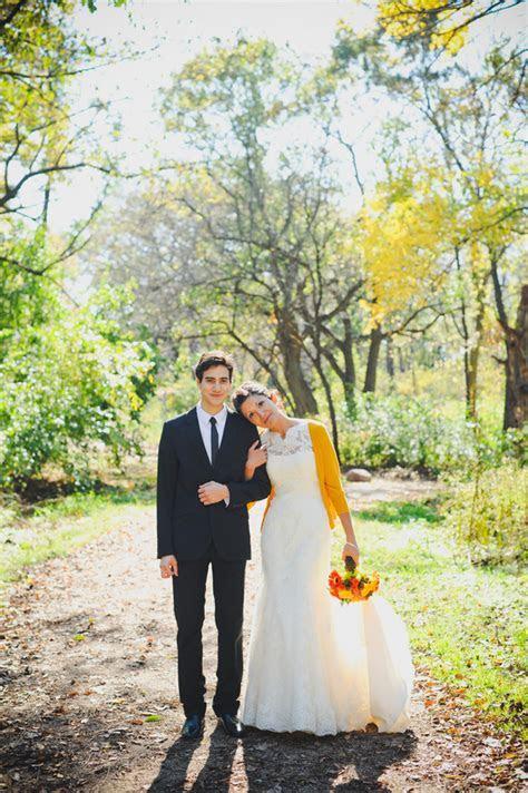 Casual Yellow Fall Wedding